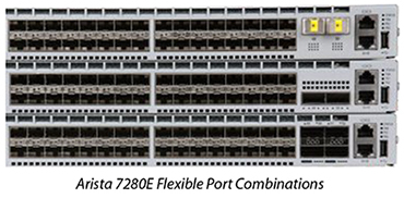 Arista 7280E Flexible Port Combinations